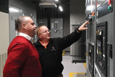 ServerFarm team inside the data center