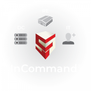 DC Management, Real Estate, and IT icons under the InCommand logo umbrella