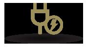 ServerFarm electricity power icon