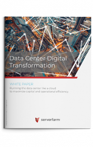 White paper brochure titled Data Center Digital Transformation