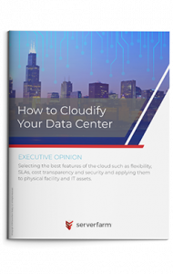 Brochure cover titled how to cloudify your data center