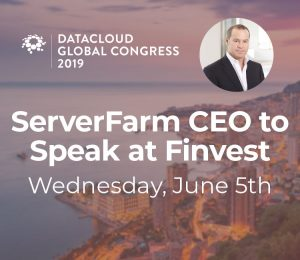 ServerFarm CEO Avner Papouchados peaking at FINVEST in Monaco