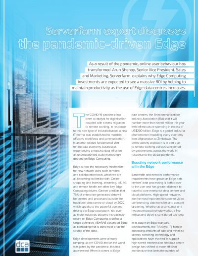 Intelligent Data Centres - Serverfarm expert discusses the pandemic-driven Edge