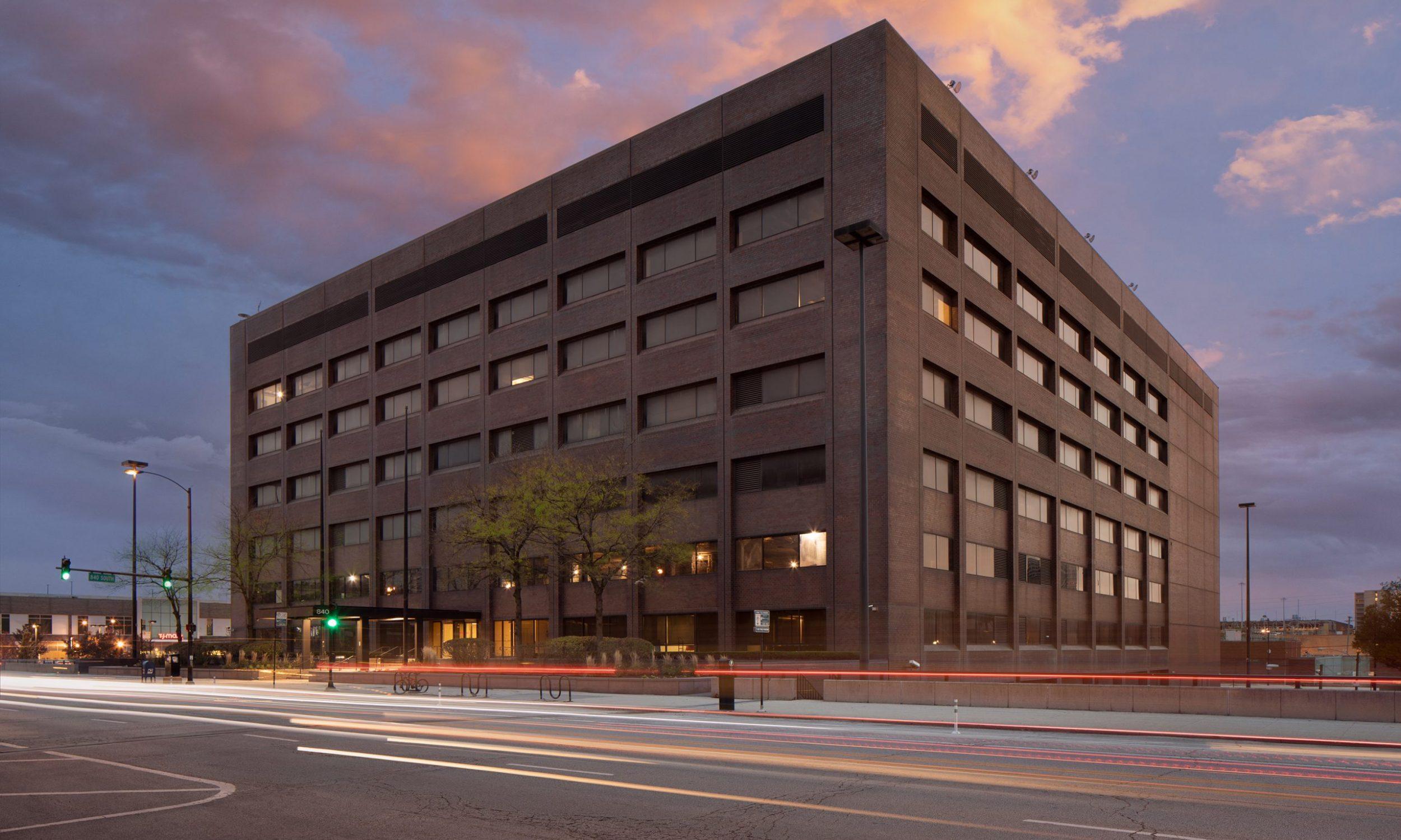 Serverfarm, technology, industrial, Chicago, Illinois, IL, architectural, photography, data center